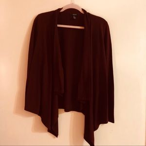 Forever 21 Sweaters - ❤️BURGUNDY CARDIGAN